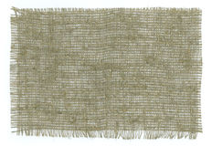 Bords déchirés par tissu de toile de jute Photo libre de droits