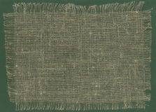 Bords déchirés par tissu de toile de jute Images libres de droits