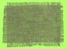 Bords déchirés par tissu de toile de jute Photographie stock