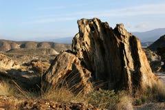 Bords en pierre dans le désert Tabernas Photo stock