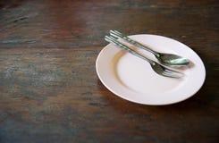 , bordsservis en uppsättning för en serve i restaurang Royaltyfri Fotografi