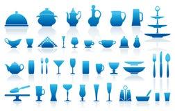 Bordsservissymboler royaltyfri illustrationer