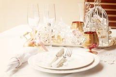 Bordsservisuppsättning för jul Royaltyfria Bilder