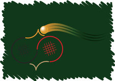 Bordtennislogo Stock Illustrationer
