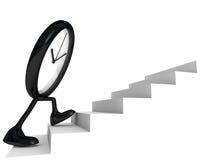 Borduhr auf den Jobstepps der Seite Lizenzfreie Stockfotografie
