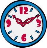 Uhr-Karikatur Stockbild