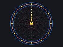Borduhr Kreative Uhren von den Punkten Vektor stock abbildung