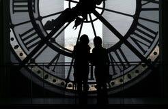 Borduhr am Orsay Museum Lizenzfreie Stockbilder