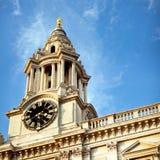 Borduhr Str.-Pauls, London. lizenzfreies stockfoto