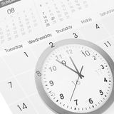 Borduhr und Kalender Stockbild