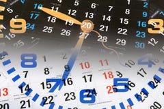 Borduhr und Kalender Lizenzfreie Stockfotografie