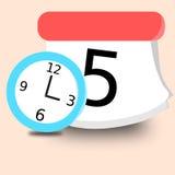 Borduhr und Kalender Stockbilder
