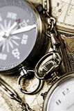 Borduhr und Kompaß Lizenzfreies Stockbild