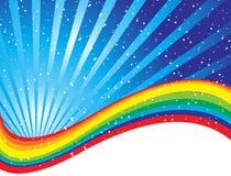 Bordure d'image de concept d'arc-en-ciel Image stock