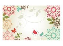 Bordure de fleur Images stock