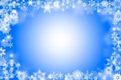 Bordure de flocons de neige Image libre de droits