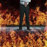 Bordure par le feu Image stock