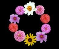 Bordure vous-même par des fleurs Image stock