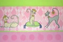 Bordure z galanteryjnymi kotami Obrazy Stock
