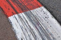 Bordures de trottoir sur la piste de Formule 1 Image libre de droits