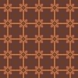 Borduurwerk eenvoudig naadloos patroon in bruine tonen Royalty-vrije Stock Afbeelding
