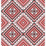 borduurwerk Oekraïens nationaal ornament Stock Afbeelding