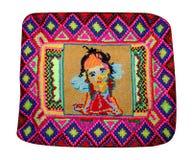 Borduurwerk van een klein meisje royalty-vrije stock afbeeldingen