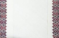 Borduurwerkfragment Garen, stof royalty-vrije stock foto's