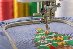 Borduurwerkmachines en Kerstmis Stock Afbeeldingen