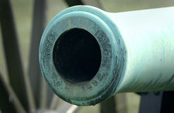 Bore of Civil War Cannon. Antietam, Maryland stock photo