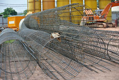 Bore pile reinforcement bars at construction site in Malaysia. Stock Photography