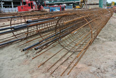 Bore pile reinforcement bars Royalty Free Stock Photo