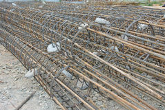Bore pile reinforcement bars Royalty Free Stock Image
