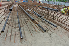 Bore pile reinforcement bars Stock Image