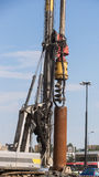 Bore Pile Rig auger at the construction site , Drilling wells. Bore Pile Rig auger at the construction site , construction site construction stock photo