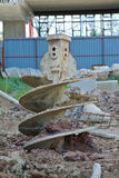 Bore Pile Rig auger at the construction site Royalty Free Stock Image
