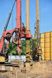 Bore Pile Rig at construction site Royalty Free Stock Photography