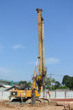 Bore Pile Rig at construction site Stock Image
