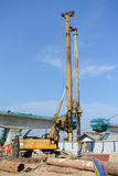 Bore Pile Rig at construction site Royalty Free Stock Photo