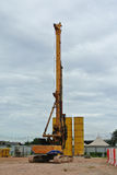Bore Pile Rig at construction site Stock Photo