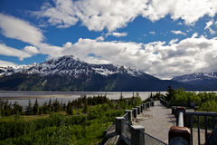 Bore Tide Viewing Area, Seward Highway, Alaska. Bore tide interpretive and viewing area along Seward Highway and Turnagain Arm Royalty Free Stock Image