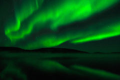 Borealis αυγής - βόρεια φω'τα Στοκ Φωτογραφία