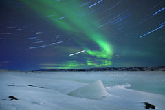Borealis αυγής στη βόρεια Νορβηγία Στοκ Φωτογραφία