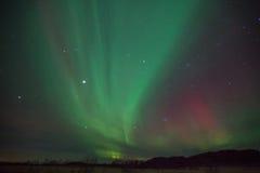 Borealis αυγής στη Νορβηγία Στοκ Φωτογραφίες