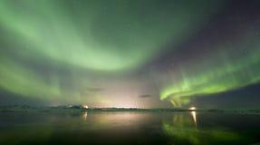 Αυγή Borealis Στοκ Φωτογραφίες