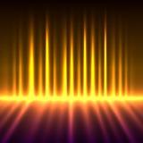 Borealis de l'aurore colorés par incendie Image libre de droits
