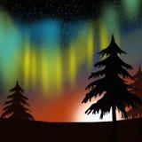 Borealis de la aurora Fotografía de archivo libre de regalías