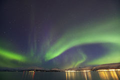 Borealis dell'aurora Fotografia Stock Libera da Diritti