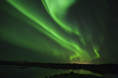 Borealis dell'aurora o degli indicatori luminosi nordici Immagini Stock Libere da Diritti