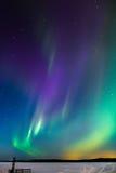 Auroras sobre o lago 3 Fotos de Stock